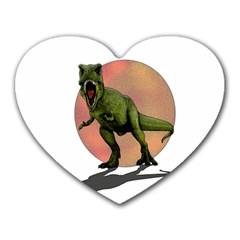 Dinosaurs T Rex Heart Mousepads by Valentinaart