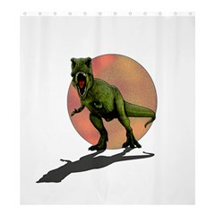 Dinosaurs T Rex Shower Curtain 66  X 72  (large)  by Valentinaart