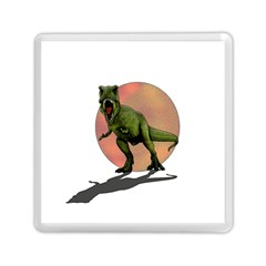 Dinosaurs T Rex Memory Card Reader (square)  by Valentinaart
