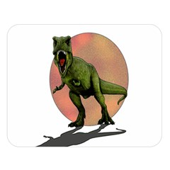 Dinosaurs T Rex Double Sided Flano Blanket (large)  by Valentinaart