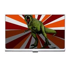 Dinosaurs T Rex Business Card Holders by Valentinaart