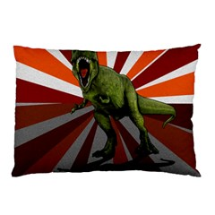 Dinosaurs T Rex Pillow Case by Valentinaart