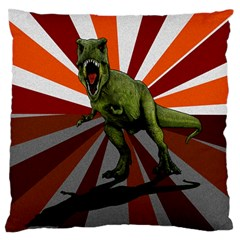 Dinosaurs T Rex Standard Flano Cushion Case (two Sides) by Valentinaart