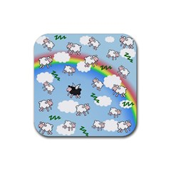 Sweet Dreams  Rubber Coaster (square)  by Valentinaart