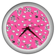 Sweet Dreams  Wall Clocks (silver)  by Valentinaart