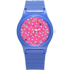 Sweet Dreams  Round Plastic Sport Watch (s) by Valentinaart