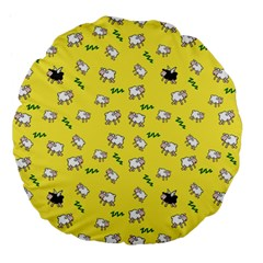 Sweet Dreams  Large 18  Premium Flano Round Cushions by Valentinaart