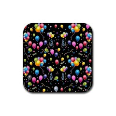 Balloons   Rubber Square Coaster (4 Pack)  by Valentinaart