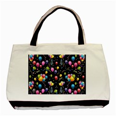 Balloons   Basic Tote Bag (two Sides) by Valentinaart