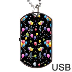 Balloons   Dog Tag Usb Flash (one Side) by Valentinaart