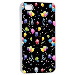 Balloons   Apple Iphone 4/4s Seamless Case (white) by Valentinaart