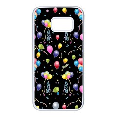 Balloons   Samsung Galaxy S7 White Seamless Case by Valentinaart