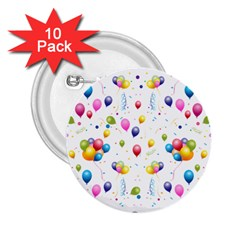 Balloons   2 25  Buttons (10 Pack)  by Valentinaart