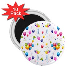 Balloons   2 25  Magnets (10 Pack)  by Valentinaart