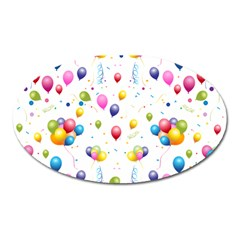 Balloons   Oval Magnet by Valentinaart