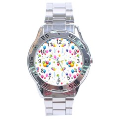 Balloons   Stainless Steel Analogue Watch by Valentinaart