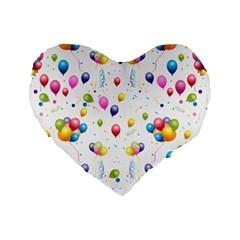 Balloons   Standard 16  Premium Heart Shape Cushions by Valentinaart