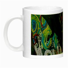Urban T Rex Night Luminous Mugs by Valentinaart