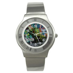 Urban T Rex Stainless Steel Watch by Valentinaart