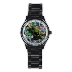 Urban T Rex Stainless Steel Round Watch by Valentinaart