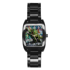 Urban T Rex Stainless Steel Barrel Watch by Valentinaart