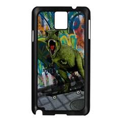 Urban T Rex Samsung Galaxy Note 3 N9005 Case (black) by Valentinaart
