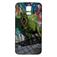 Urban T Rex Samsung Galaxy S5 Back Case (white) by Valentinaart