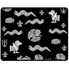 Aztecs Pattern Fleece Blanket (medium)  by Valentinaart