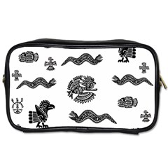 Aztecs Pattern Toiletries Bags 2 Side by Valentinaart