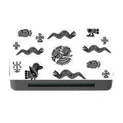 Aztecs Pattern Memory Card Reader With Cf by Valentinaart