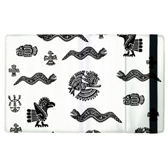 Aztecs Pattern Apple Ipad 2 Flip Case by Valentinaart