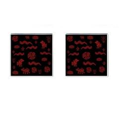 Aztecs Pattern Cufflinks (square) by Valentinaart