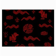 Aztecs Pattern Large Glasses Cloth (2 Side) by Valentinaart