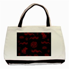 Aztecs Pattern Basic Tote Bag (two Sides) by Valentinaart