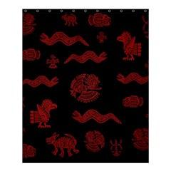 Aztecs Pattern Shower Curtain 60  X 72  (medium)  by Valentinaart