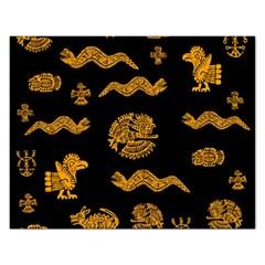 Aztecs Pattern Rectangular Jigsaw Puzzl by Valentinaart