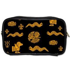 Aztecs Pattern Toiletries Bags 2 Side by Valentinaart