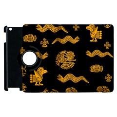 Aztecs Pattern Apple Ipad 3/4 Flip 360 Case by Valentinaart