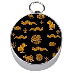 Aztecs Pattern Silver Compasses by Valentinaart
