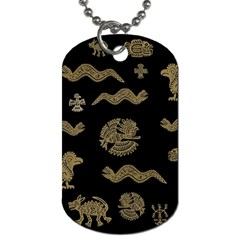 Aztecs Pattern Dog Tag (one Side) by Valentinaart