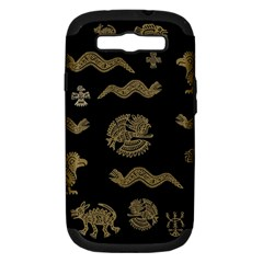 Aztecs Pattern Samsung Galaxy S Iii Hardshell Case (pc+silicone) by Valentinaart