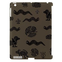 Aztecs Pattern Apple Ipad 3/4 Hardshell Case (compatible With Smart Cover) by Valentinaart