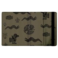 Aztecs Pattern Apple Ipad 2 Flip Case by Valentinaart