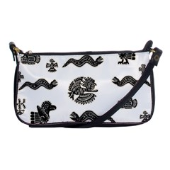 Aztecs Pattern Shoulder Clutch Bags by Valentinaart