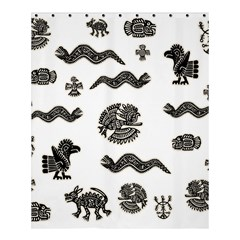 Aztecs Pattern Shower Curtain 60  X 72  (medium)  by Valentinaart