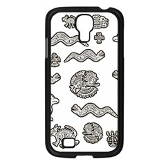 Aztecs Pattern Samsung Galaxy S4 I9500/ I9505 Case (black) by Valentinaart