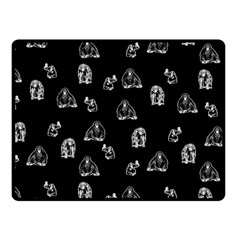 Chimpanzee Fleece Blanket (small) by Valentinaart