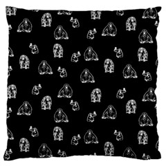Chimpanzee Large Cushion Case (two Sides) by Valentinaart