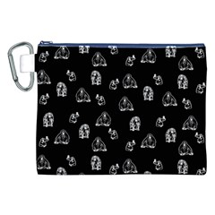 Chimpanzee Canvas Cosmetic Bag (xxl) by Valentinaart