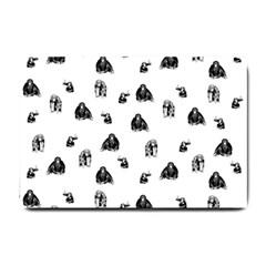 Chimpanzee Small Doormat  by Valentinaart